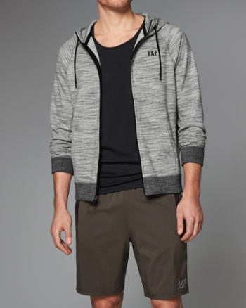 Mens Space Dye Full-Zip Hoodie