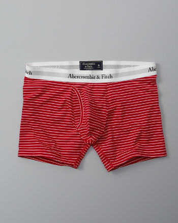 Mens Striped Knit Boxer Brief