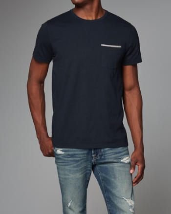 Mens Woven Tape Pocket Tee