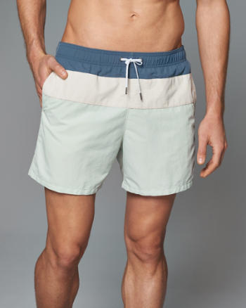 "Mens A&F 5"" Guard Swim Shorts"
