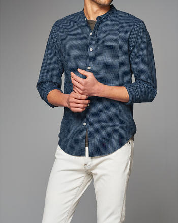 ANF Classic Madras Banded Shirt