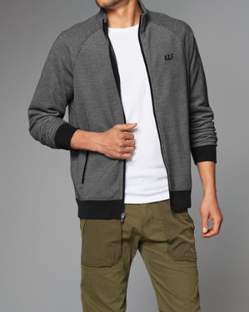 Mens Sport Full-Zip Mock Neck Jacket