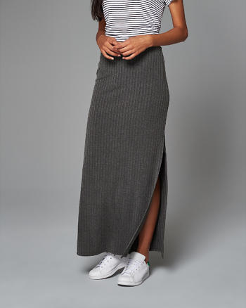 ANF Ribbed Maxi Skirt