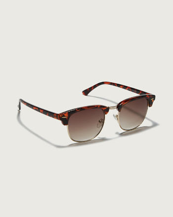 Womens Tortoise Trim Sunglasses