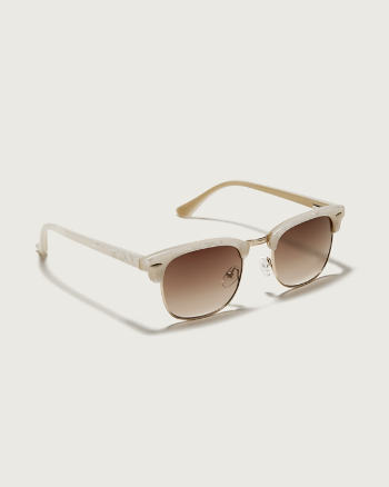Womens White Trim Sunglasses