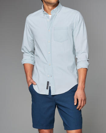 Mens Bleach Chambray Shirt