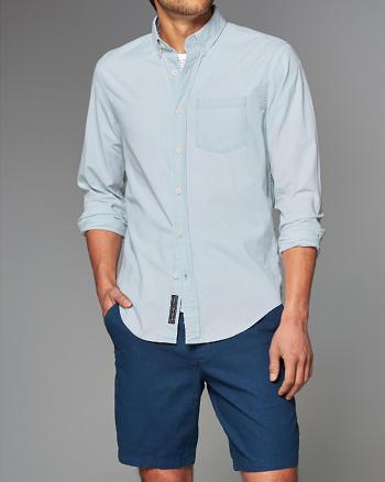 ANF Bleach Chambray Shirt