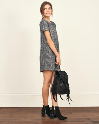 Womens Ribbed T-Shirt Dress