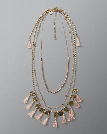 ANF Tassel Layered Necklace