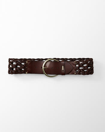 ANF Wide Braided Belt