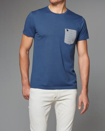 Mens Contrast Pocket Tee