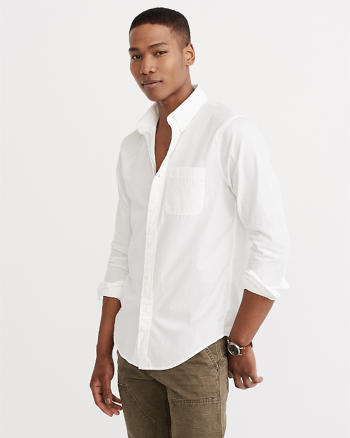 ANF Relaxed Fit Poplin Shirt