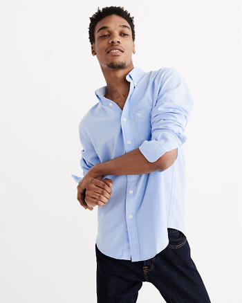 ANF Relaxed Fit Iconic Oxford Shirt