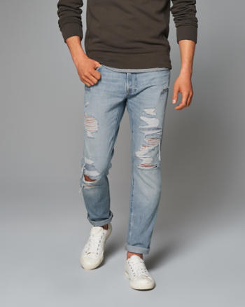 Mens Skinny Summer Weight Jeans