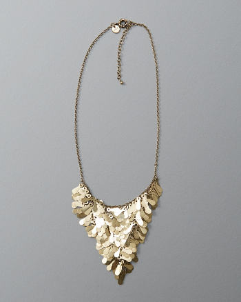 Womens Petal Cluster Statement Necklace