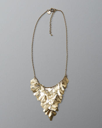 ANF Petal Cluster Statement Necklace