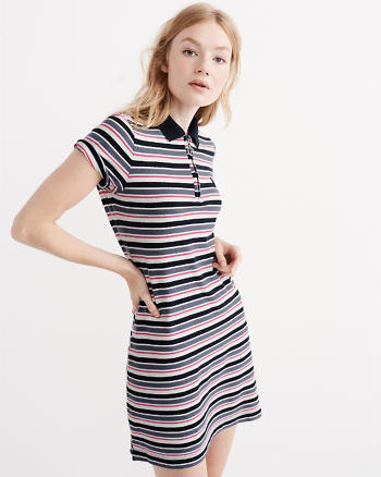 ANF Stripe Polo Dress