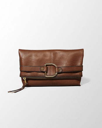 ANF Leather Fold-Over Clutch