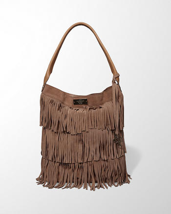 ANF Suede Fringe Tote