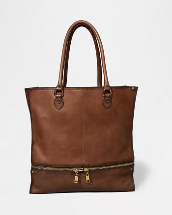 ANF Leather Expandable Tote