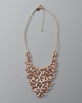 Womens Beaded Cluster Statement Necklace