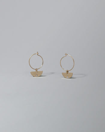Womens Half-Moon Drop Earrings