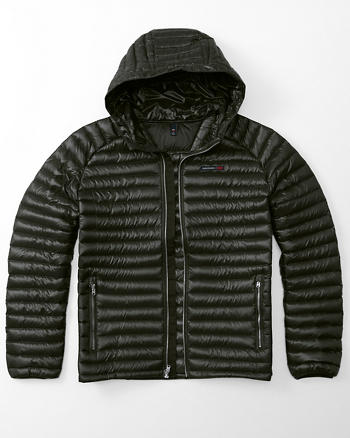 ANF Ultra Lightweight Hooded Puffer Jacket