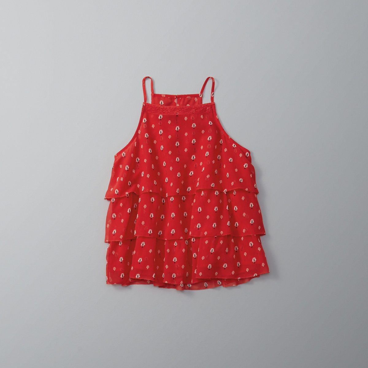 Patterned Ruffle Cami
