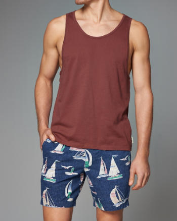 Mens Washed Down Tank
