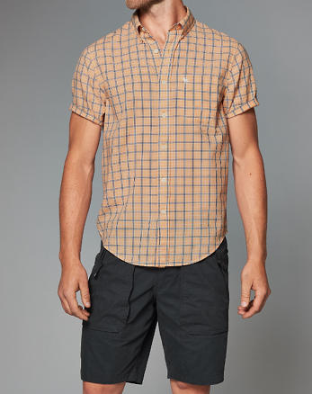 ANF Poplin Short-Sleeve Shirt