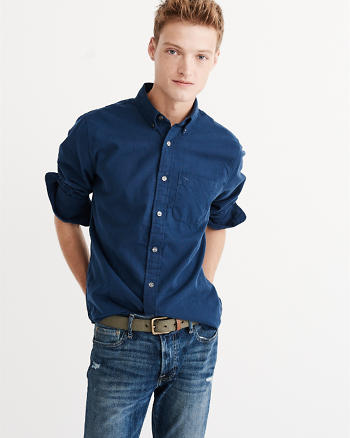 ANF Relaxed Fit Icon Oxford Shirt