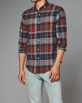 ANF Plaid Madras Shirt