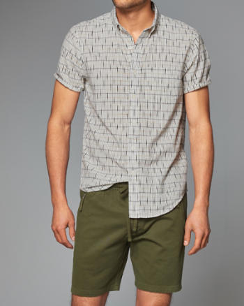 Mens Ikat Short-Sleeve Shirt