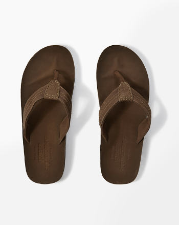 Mens Leather Flip Flops