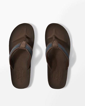 ANF Leather Flip Flops