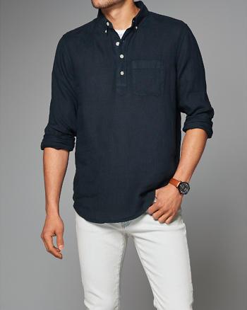 ANF Garment Dye Linen Popover