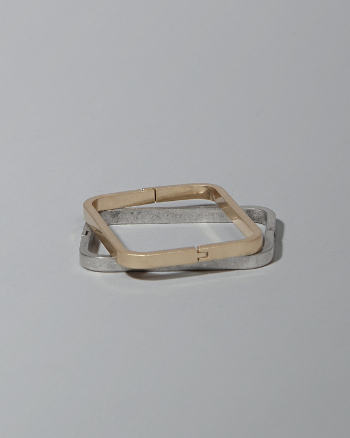 Womens Square Hinge Bangle Set