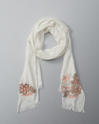 ANF Embellished Wrap Scarf