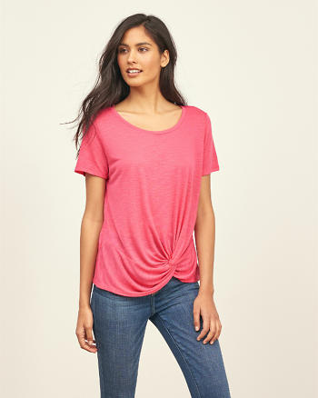 ANF Drapey Knot Front Tee