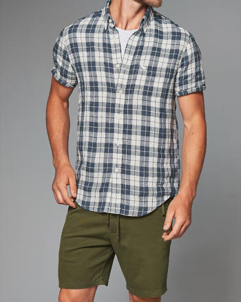 ANF Check Linen Shirt