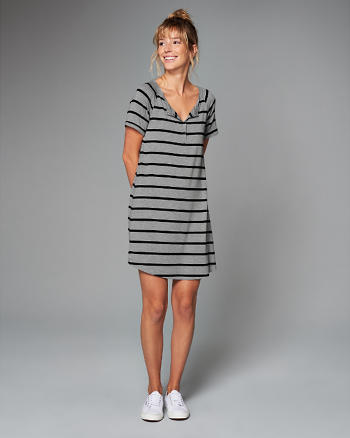 ANF Henley T-Shirt Dress