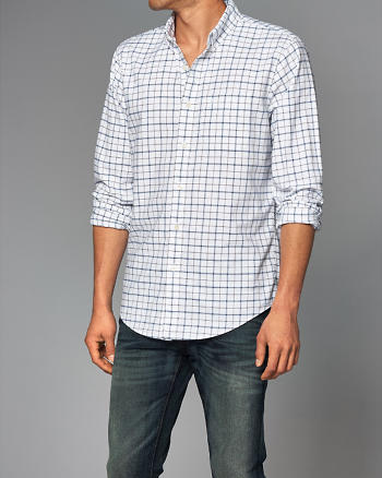 ANF Plaid Oxford Shirt
