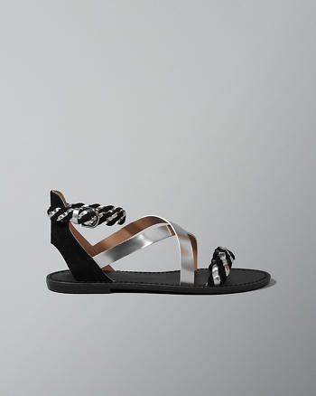 ANF Strappy Braided Sandals