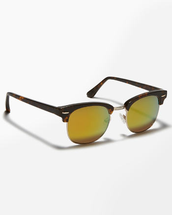 Mens Round Frame Sunglasses
