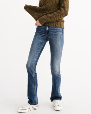 Womens Low Rise Boot Jeans