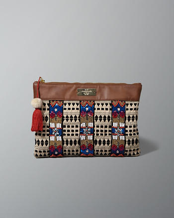 ANF Beaded Woven Clutch