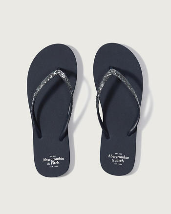 ANF Glitter Rubber Flip Flops