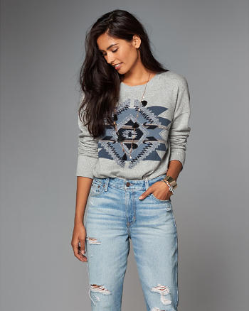 ANF Boho Intarsia Sweater