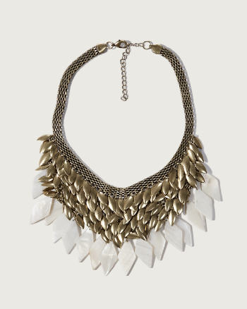 ANF Gold Statement Necklace