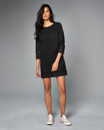 Womens Lace Shift Dress